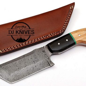 Custom Handmade Forged Damascus Steel Hunting Tento Point Knife With Cover / MDSK-115
